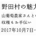 【終了しました!】2017野田村の魅力満喫ツアー